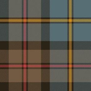"""MacLeod Green or Hunting tartan, 8"""", cyan/brown weathered"""