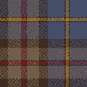 "MacLeod Green or Hunting tartan, 8"", dark weathered"