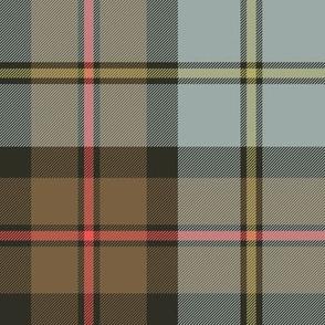 "MacLeod Green or Hunting tartan, 8"", faded weathered"