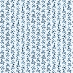 Small Lily of the Valley Outline on Ice Blue