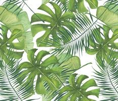 Watercolor Tropical Leaf Pattern