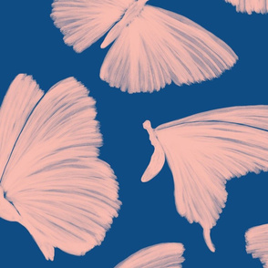 Painterly Butterflies,  pink and blue
