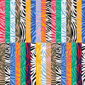 Abstract Zebra Block Stripes Medium (Multicolor)