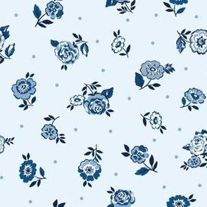China blue flowers light blue