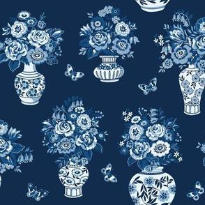 Antique blue vases