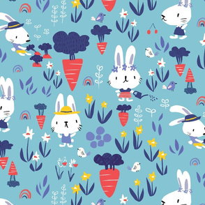 Spring bunny farmer