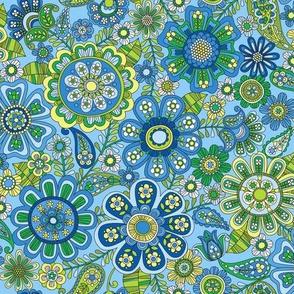 Flower power blue