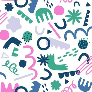 Playing with Shapes - Pink / Green / Blue