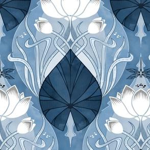 Nouveu Waterlily Blue