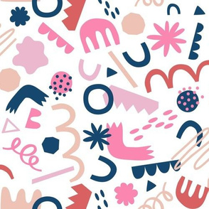 Playing with Shapes - Pinks