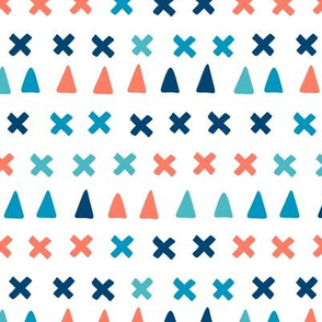 Playful shapes - red and blue