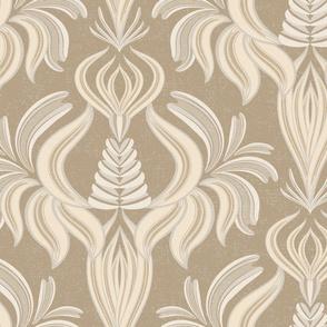 Monochrome damask pattern