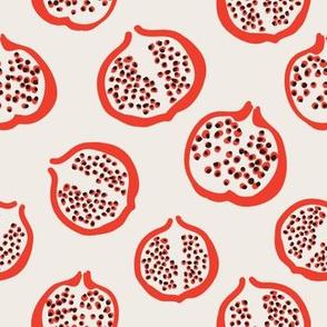 Linen Pomegranate Repeat