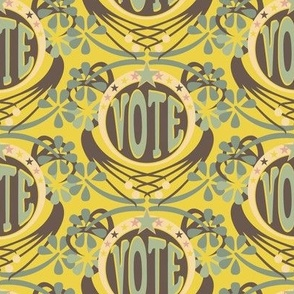 Vote! - Mint/Yellow/Brown