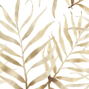 Neutral Palm Branches 16 inch