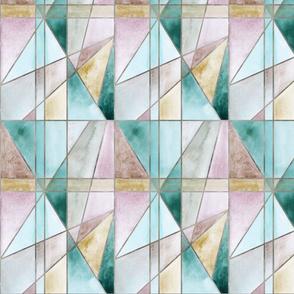 Triangles Mint Sand