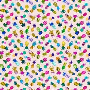 Pineapple Fun Whimsical / Blush / Micro Scale
