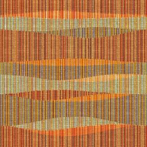 Mid Mod Lines Brown Orange