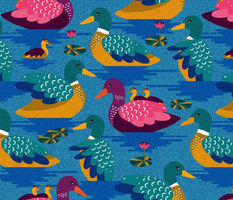 Ducks and ducklings everywhere - XL