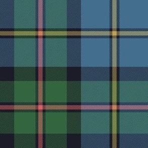 "MacLeod of Harris, or MacLeod Green or Hunting tartan, 8"", faded"