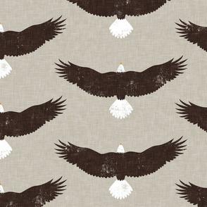 (jumbo scale) bald eagles - brown/tan - LAD20