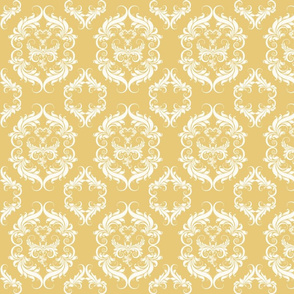 Honey Wheat Damask  E7C978