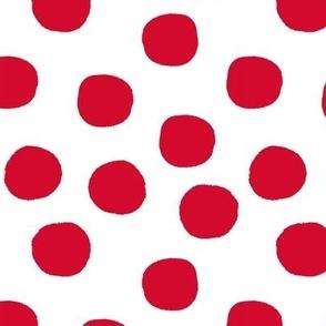 Big Bold Polka Dot Toss Red
