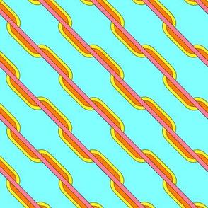 Zesty stripes on aqua