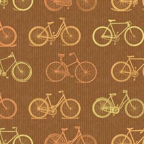 Vintage Bicycles in Retro Brown Colors