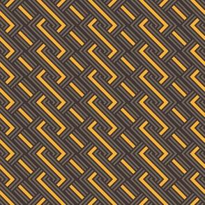abstract geometric weave by rysunki_malunki