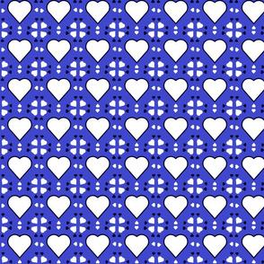 Blue Heart Square