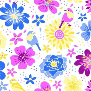 Birds and Flowers Primary Colors