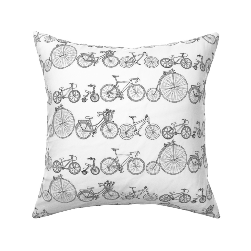 Catalan Throw Pillow featuring I Want To Ride My Bicycle by woodledoo