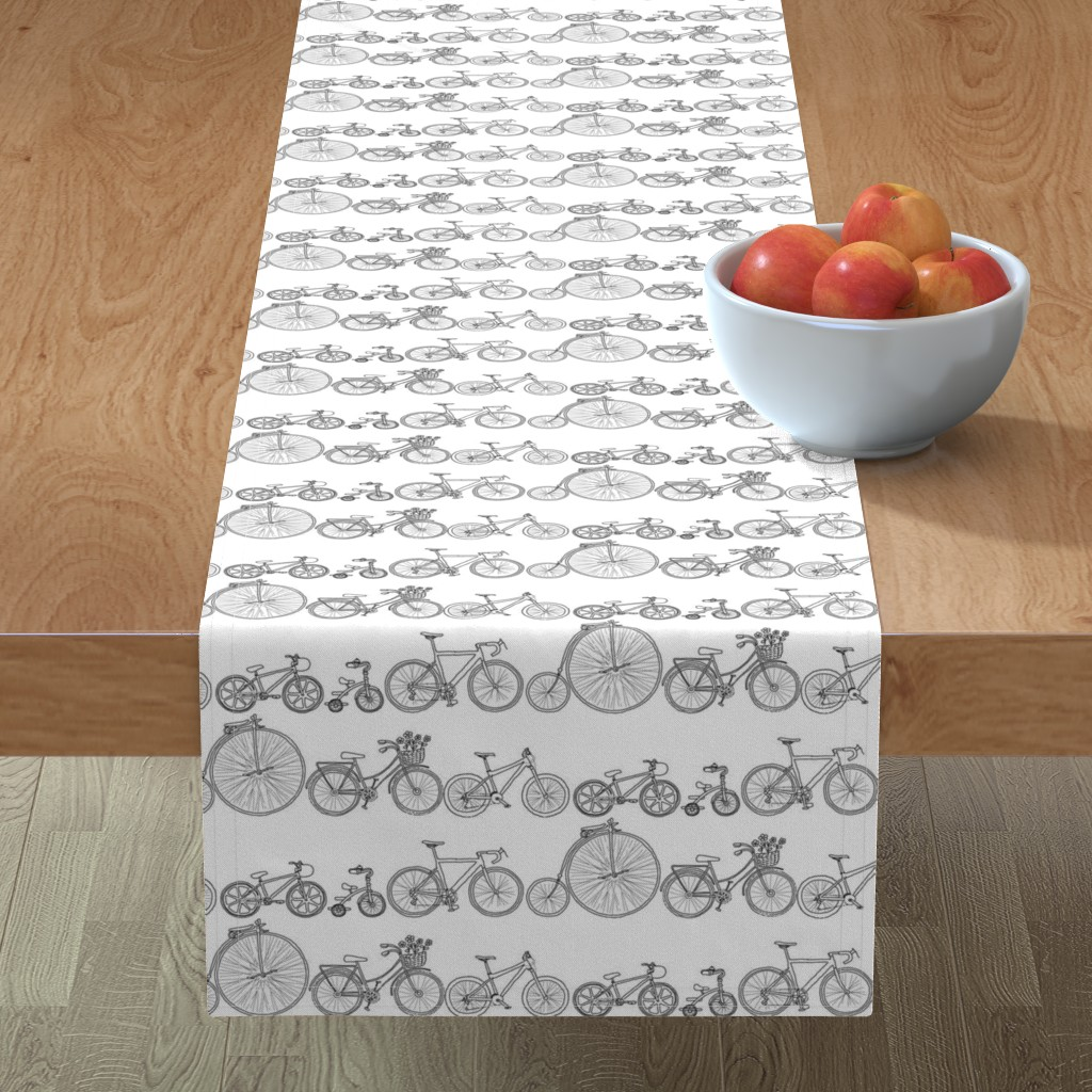 Minorca Table Runner featuring I Want To Ride My Bicycle by woodledoo