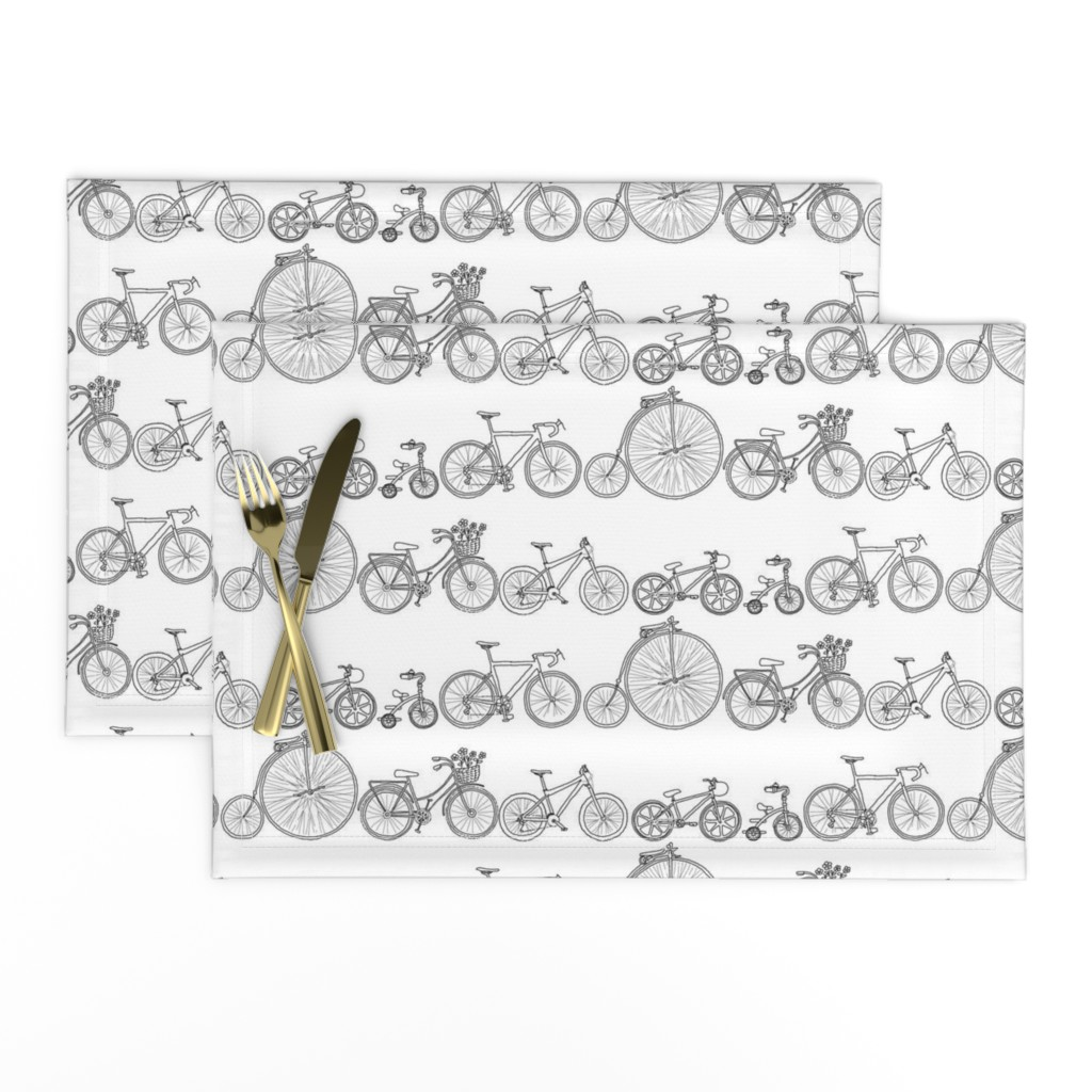 Lamona Cloth Placemats featuring I Want To Ride My Bicycle by woodledoo