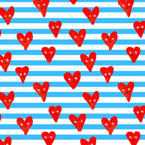 Smiling Hearts stripes