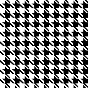 Classic Black and White Houndstooth Check