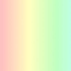 Soft Pastel Rainbow Ombre Shade