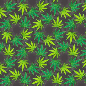 ★ SPINNING WEED ★ Green & Dark Gray - Small Scale/ Collection : Cannabis Factory 1 – Marijuana, Ganja, Pot, Hemp and other weeds prints