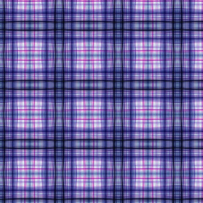 Petal Dance Blue Fancy Plaid 1