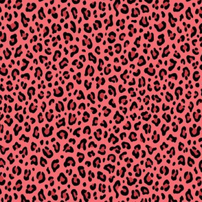 ★ LEOPARD PRINT in CORAL PINK ★ Tiny Scale / Collection : Leopard Spots – Punk Rock Animal Prints