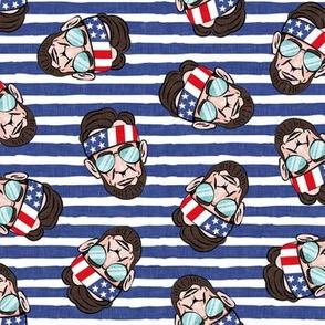 Abraham - blue stripes - sunnies - LAD20