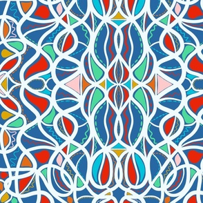 Geometric pattern colourful