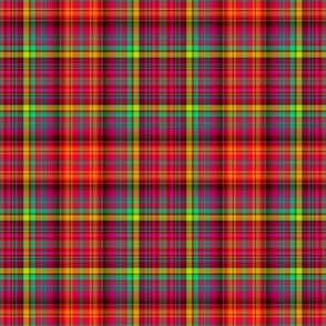 micro BRIGHT FRUITY PLAID MADRAS RED PSMGE