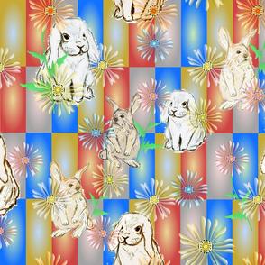 Illustrated Springtime Bunnies
