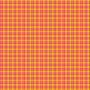 Kansas City Red and gold plaid A
