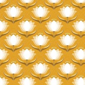 floral on ocher