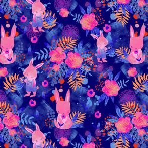 Spring bunny blue