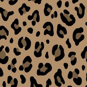 ★ LEOPARD PRINT in ICED COFFEE BROWN ★ Large Scale / Collection : Leopard spots – Punk Rock Animal Prints