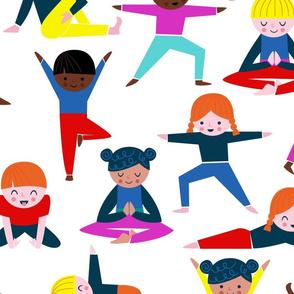 """Kids Yoga Repeat - large 24"""""""